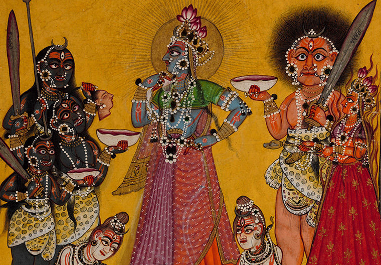 The Goddess Bhadrakali and Early Pahari Painting