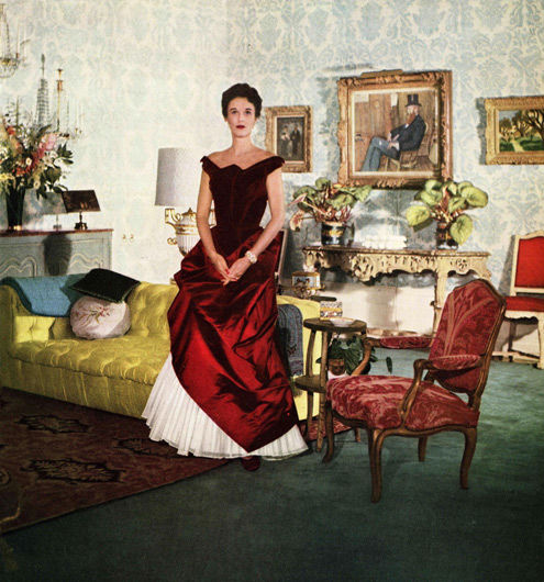Babe Paley in Charles James Gown, 1950