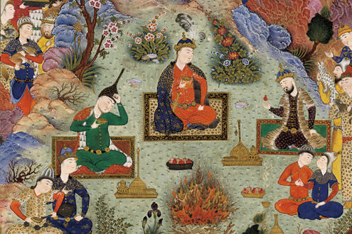The Feast of Sada: Folio from the Shahnama (Book of Kings) of Shah Tahmasp