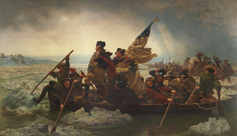 Emanuel Leutze's 1851 painting of George Washington crossing the Delaware River