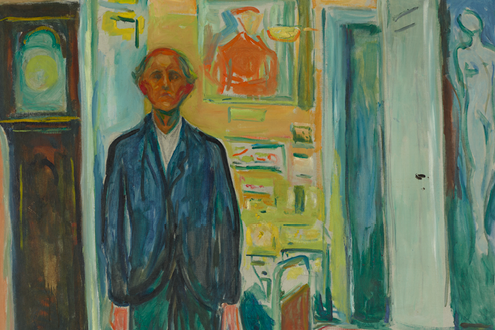Edvard Munch Between The Clock And The Bed The