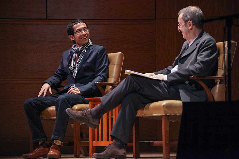 Two scholars in conversation during a Sunday at The Met event
