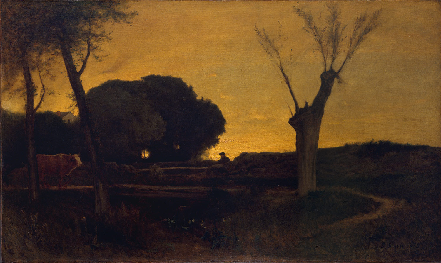 George Inness Evening At Medfield 10 64 6 Heilbrunn