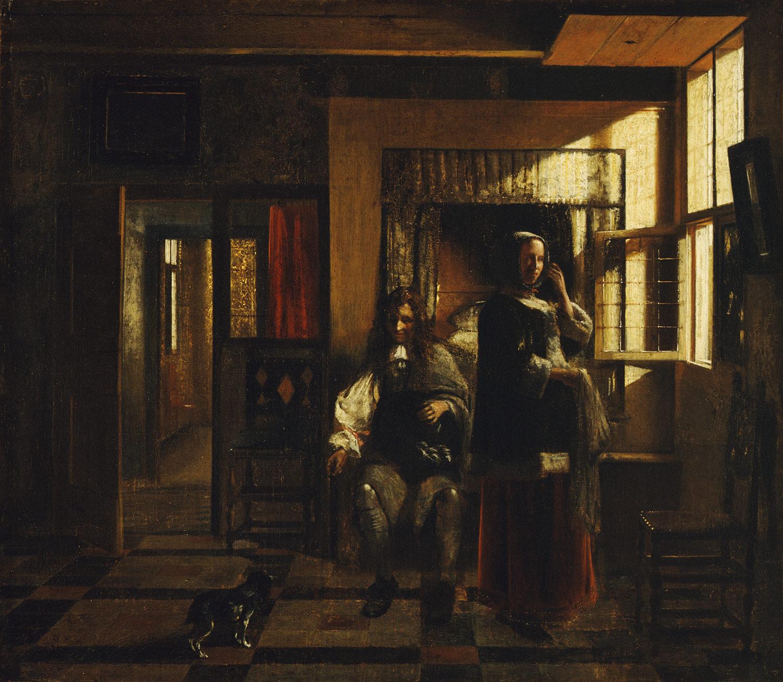 Pieter de Hooch (Dutch, 1629–1684) Oil on canvas. 21 5/8 x 24 3/4 in.