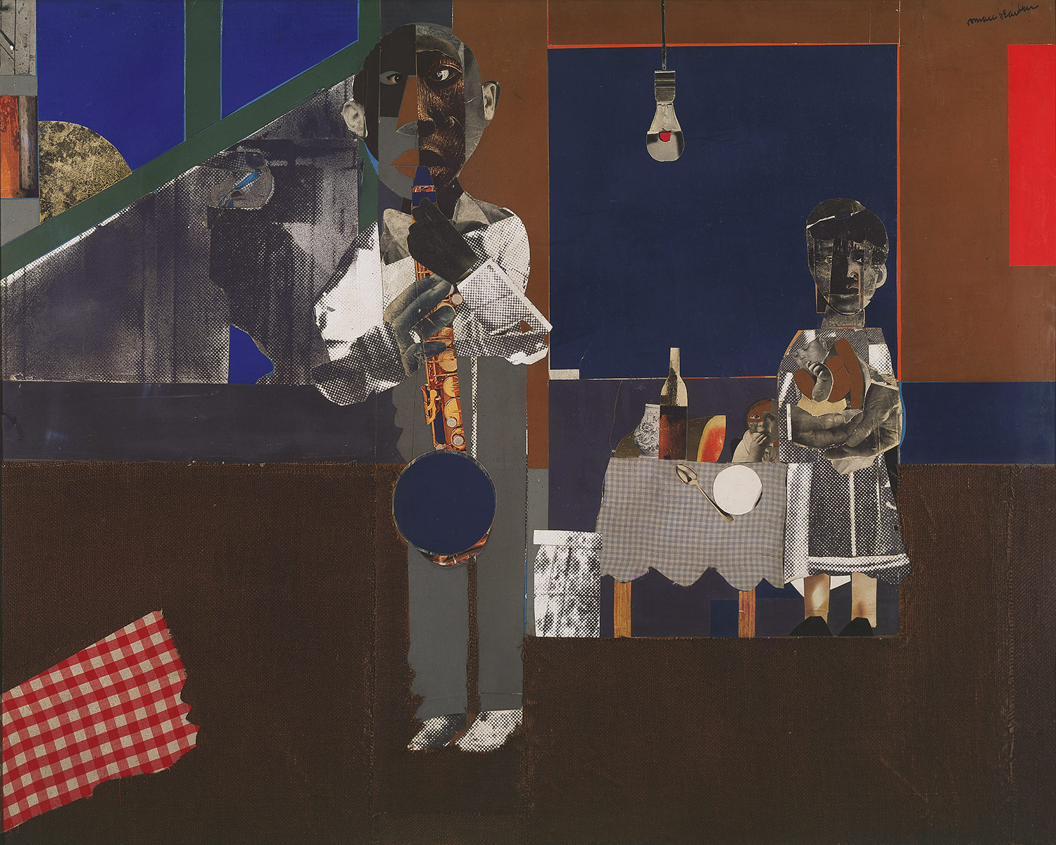 Bearden The Block. Romare Bearden (American