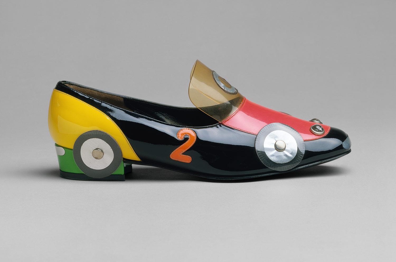 Car Shoe: Katharina Denzinger: Racing Car Shoe (1973.276.29a,b