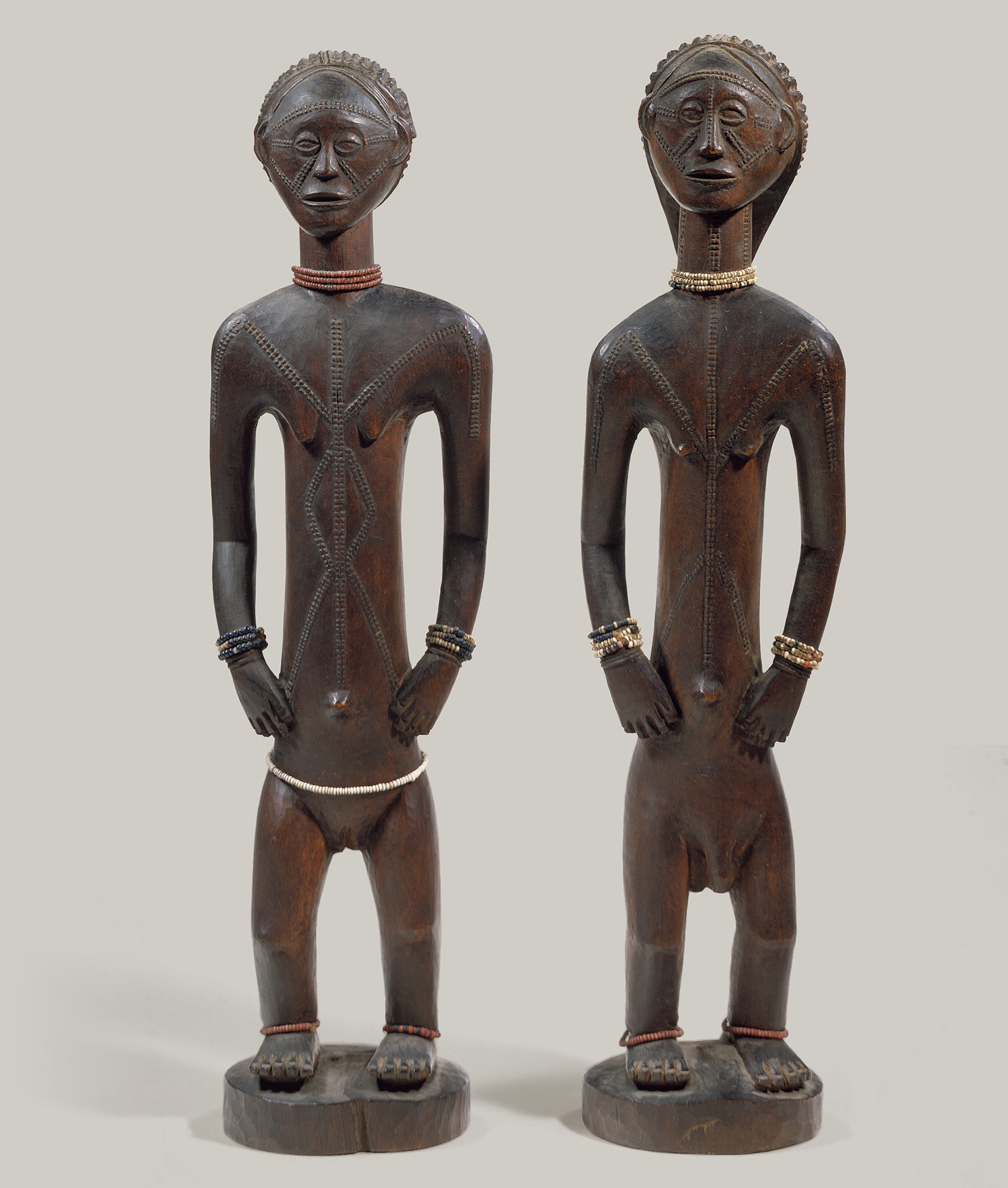 Standing Male and Female Figures, ca. 18th-19th century from the Democratic Republic of Congo.  Courtesy of the Heilbrunn Timeline from the Metropolitan Museum of Art.