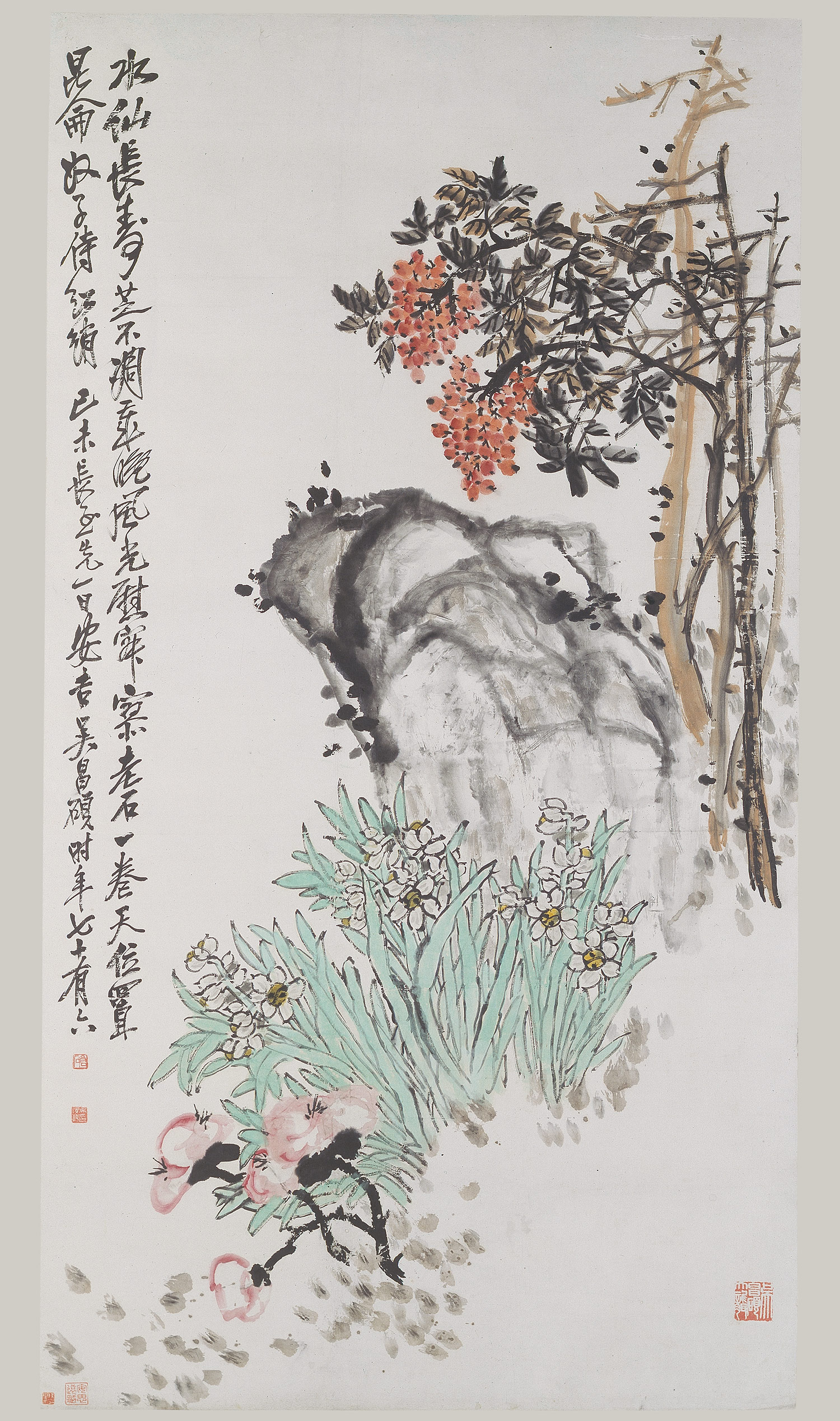 Ancient chinese ink for Chinese mural art