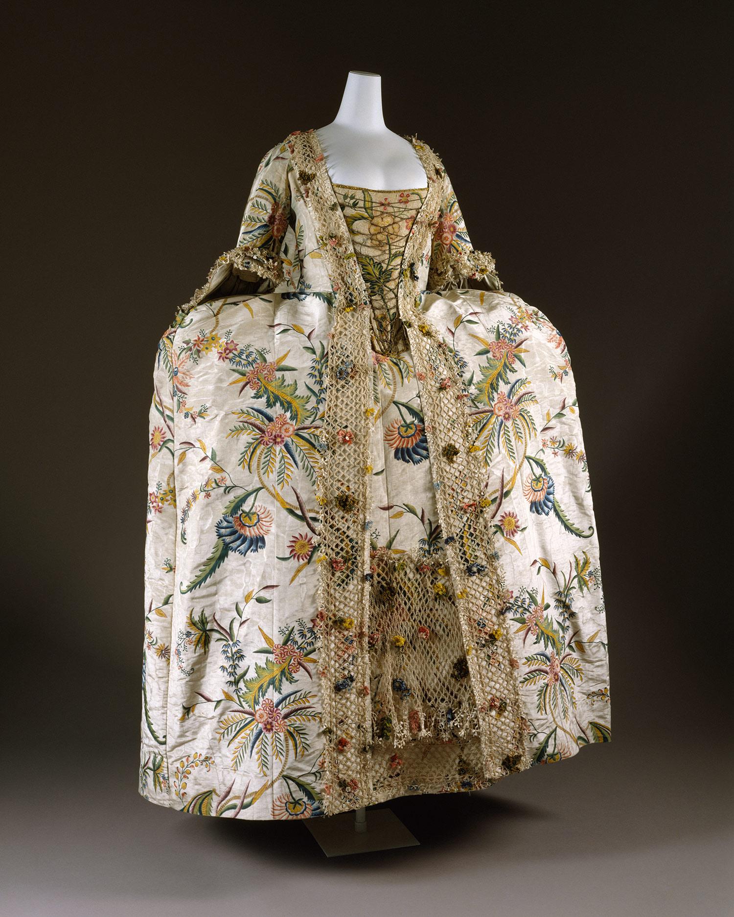 Robe A La Francaise: Dress (Robe à La Française) [England; Textile Dutch Or