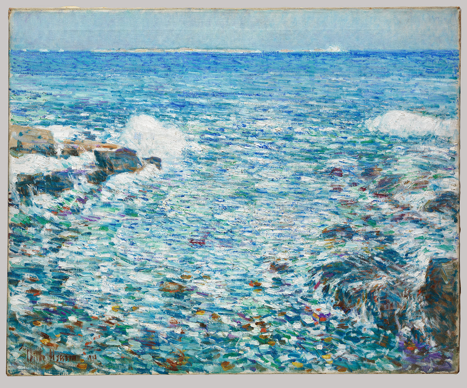 Hassam's summer sojourns on the Isles of Shoals, ten miles east