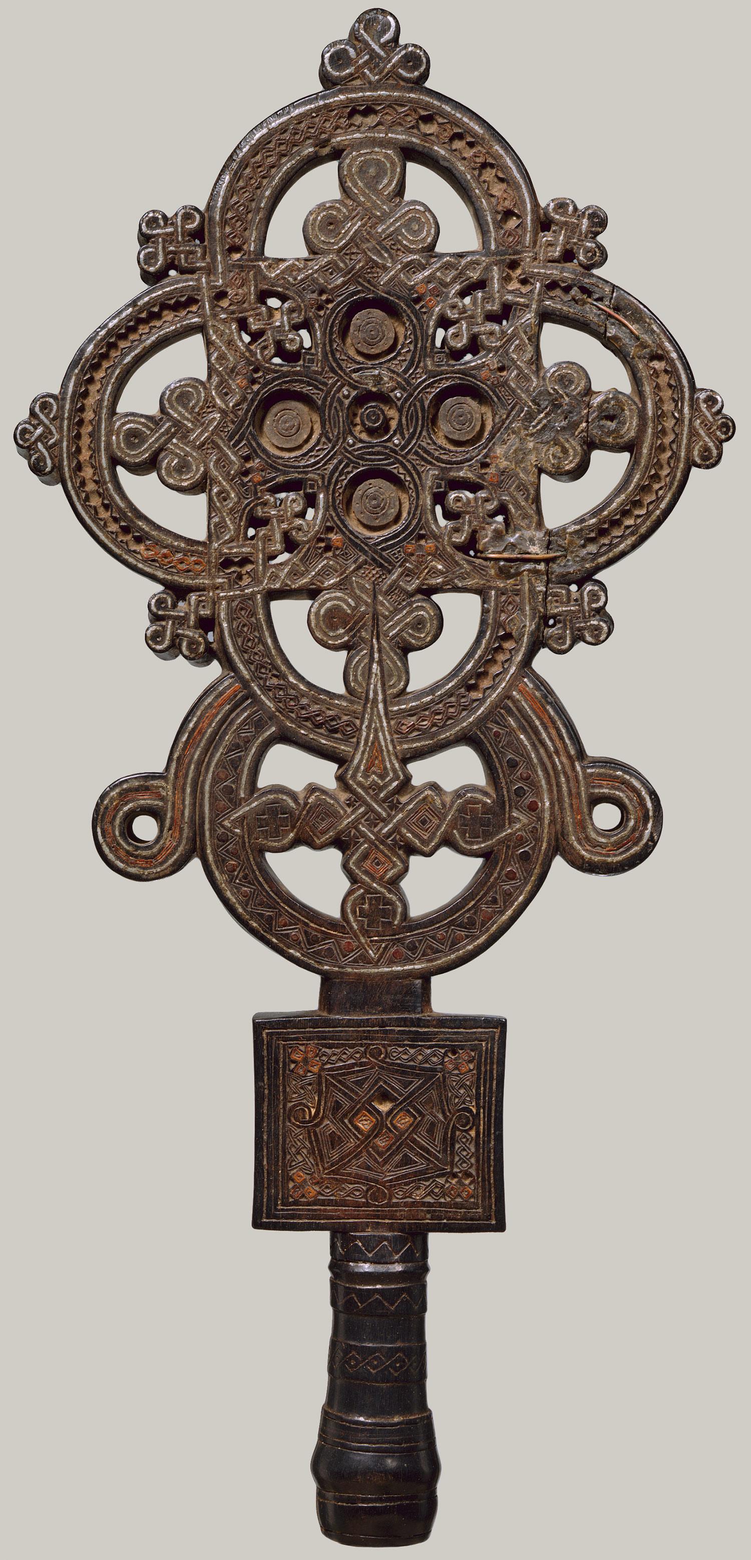 Ethiopian Wooden Cross Processional Cross  16th