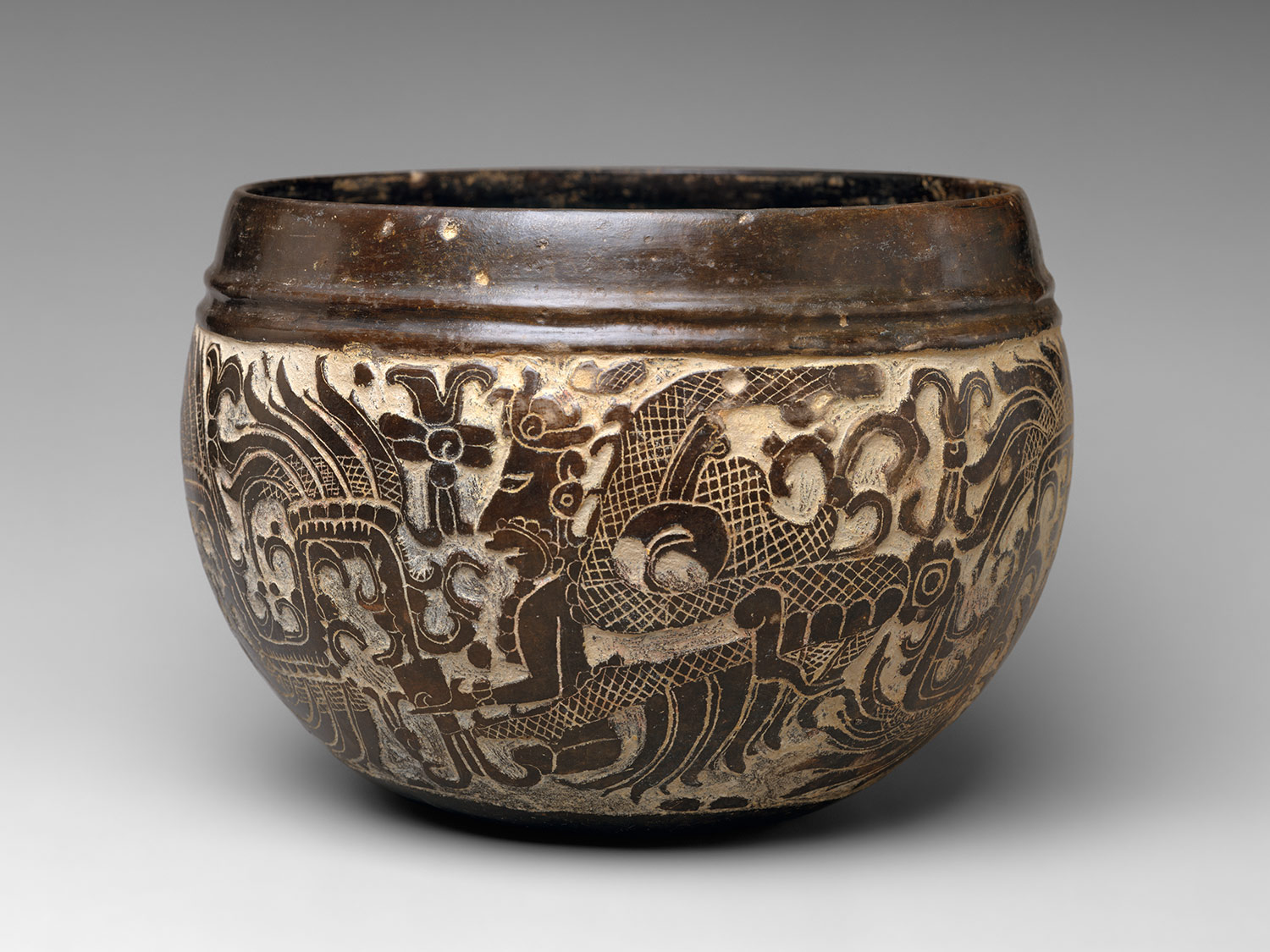 carved bowl 6th century