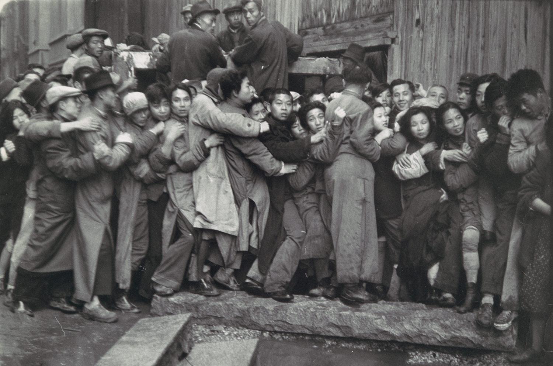 A bank run in Shanghai in 1948.