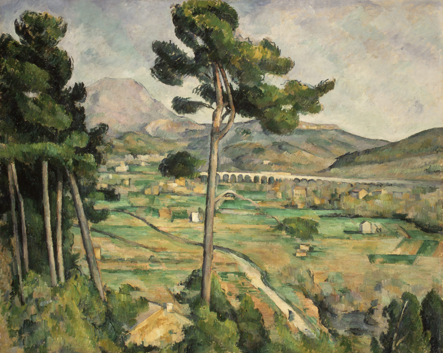 Mont Sainte-Victoire and the Viaduct of the Arc River Valley, 1882–85. Paul