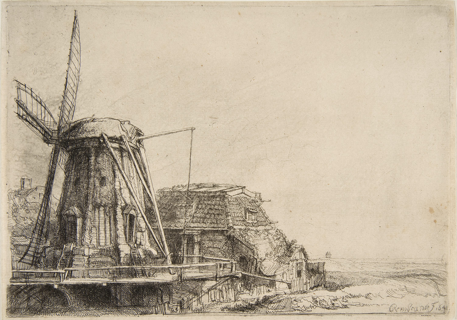 Line Art History : Art history news rembrandt landscape etchings from the