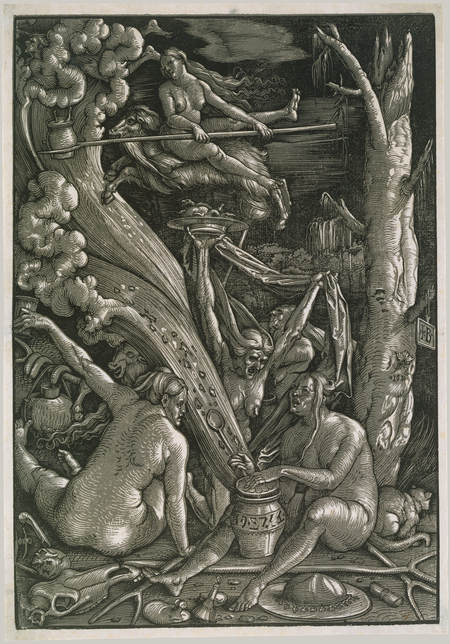 Witchcraft Art Scene of witchcraft, 1510
