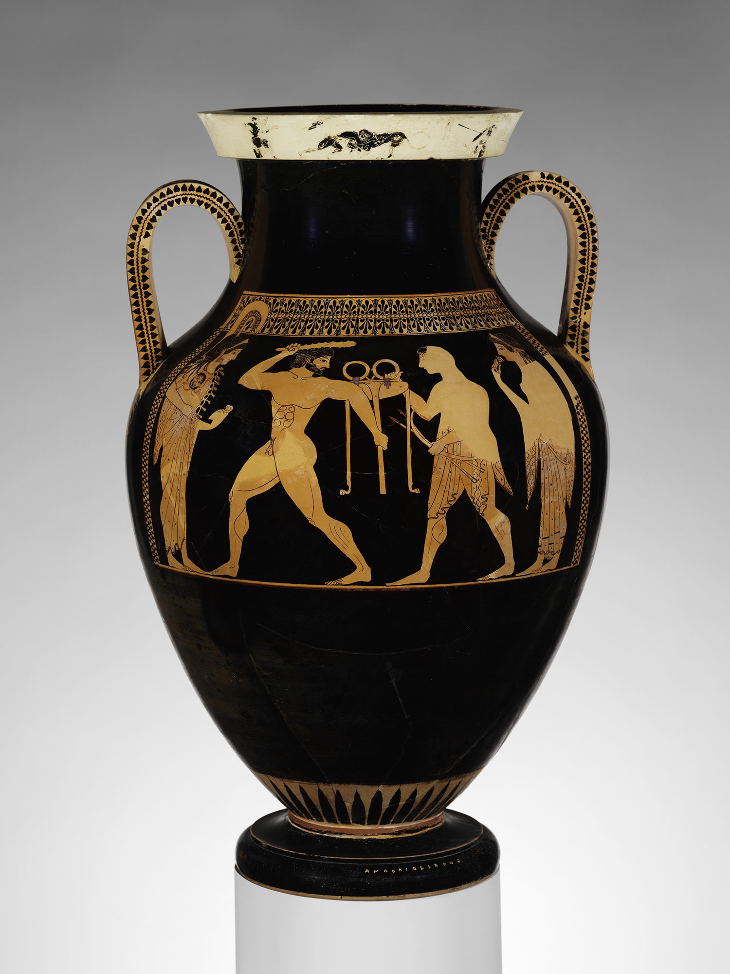Athenian Vase Painting Black And Red Figure Techniques