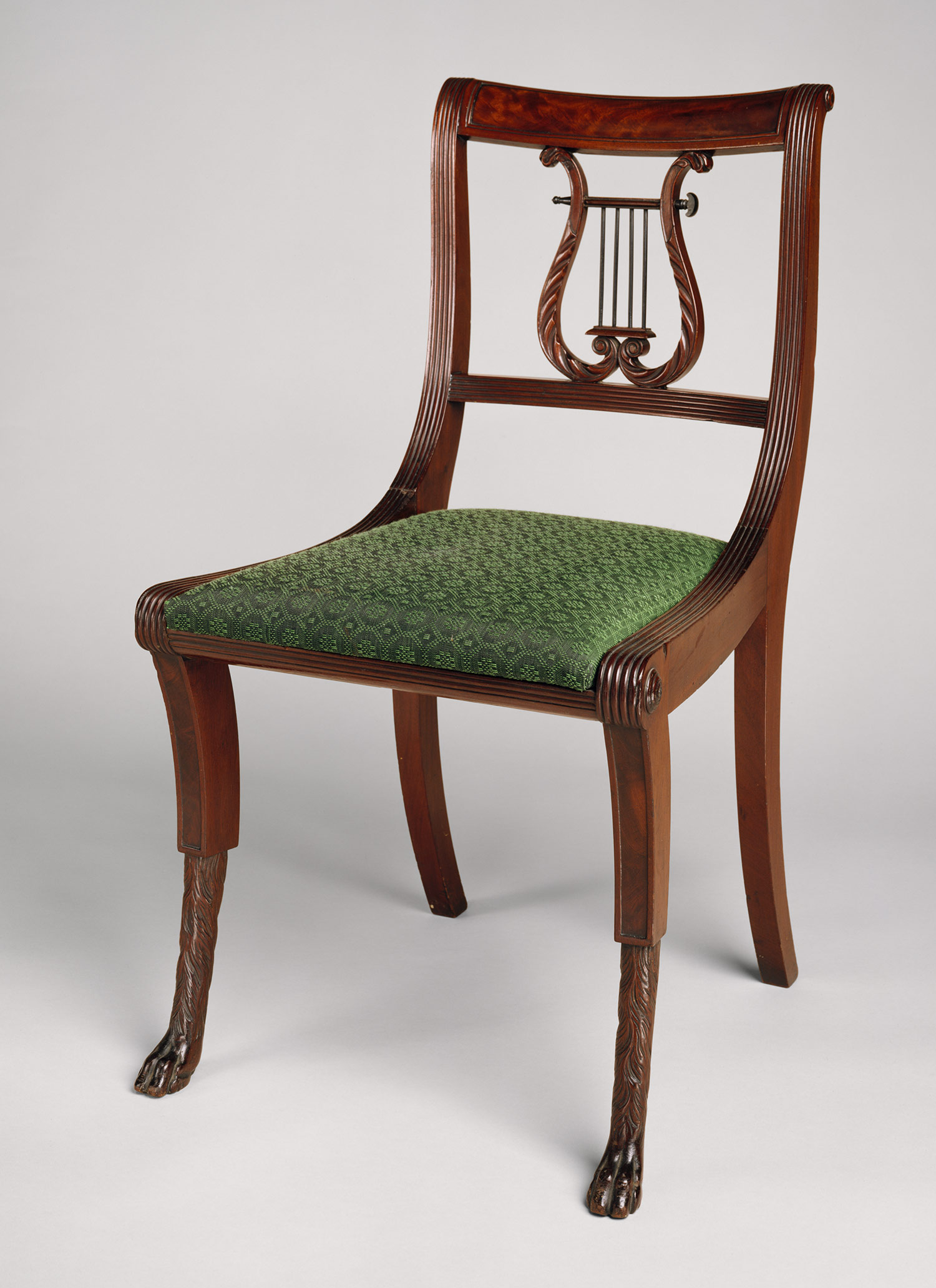 DUNCAN PHYFE LYRE BACK DINING CHAIR Chair Pads amp Cushions : h2651882 from chaileather.net size 1500 x 2063 jpeg 336kB