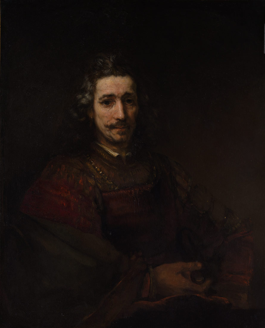 Man With A Magnifying Glass Rembrandt Van Rijn - 40 amazing examples self portrait photography