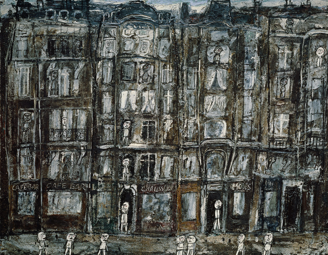 Apartment Houses apartment houses, paris | jean dubuffet | 1996.403.15 | work of