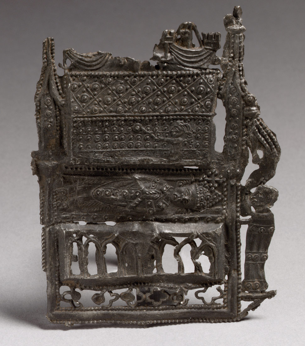 pilgrim s badge of the shrine of st thomas becket at canterbury pilgrim s badge of the shrine of st thomas becket at canterbury work of art heilbrunn timeline of art history the metropolitan museum of art
