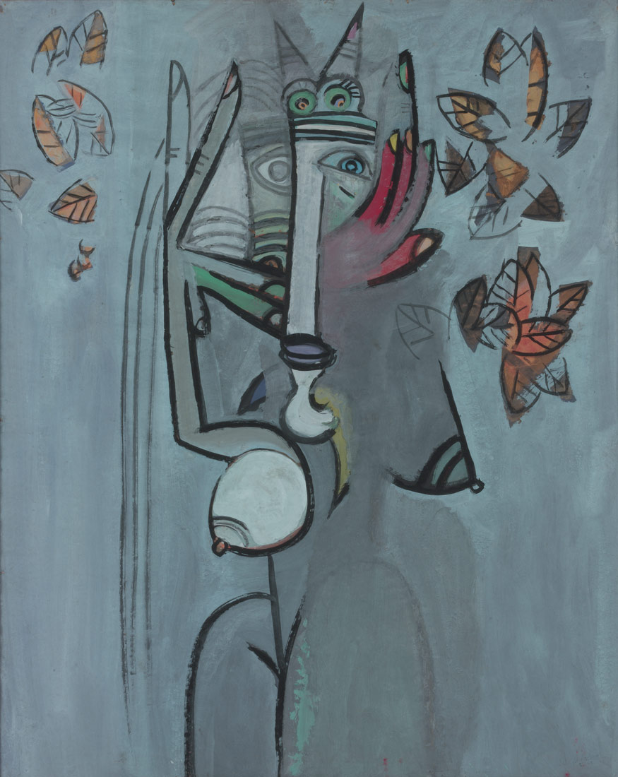 Goddess with Foliage | Wifredo Lam | 2002.456.32 | Work of Art | Heilbrunn Timeline of Art History | The Metropolitan Museum of Art