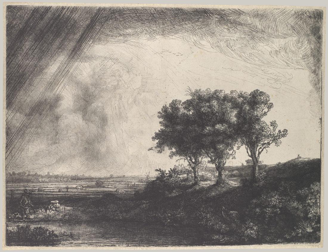 The Three Trees | Rembrandt van Rijn | 29.107.31 | Work of Art | Heilbrunn Timeline of Art History | The Metropolitan Museum of Art