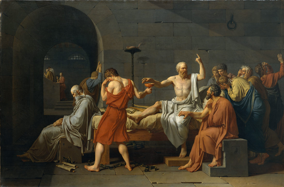 The Death of Socrates | Jacques Louis David | 31.45 | Work of Art | Heilbrunn Timeline of Art History | The Metropolitan Museum of Art