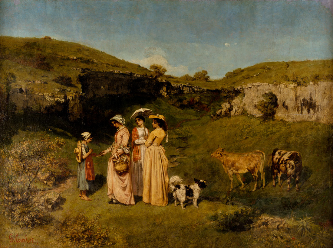young ladies of the village gustave courbet work of  young ladies of the village gustave courbet 40 175 work of art heilbrunn timeline of art history the metropolitan museum of art