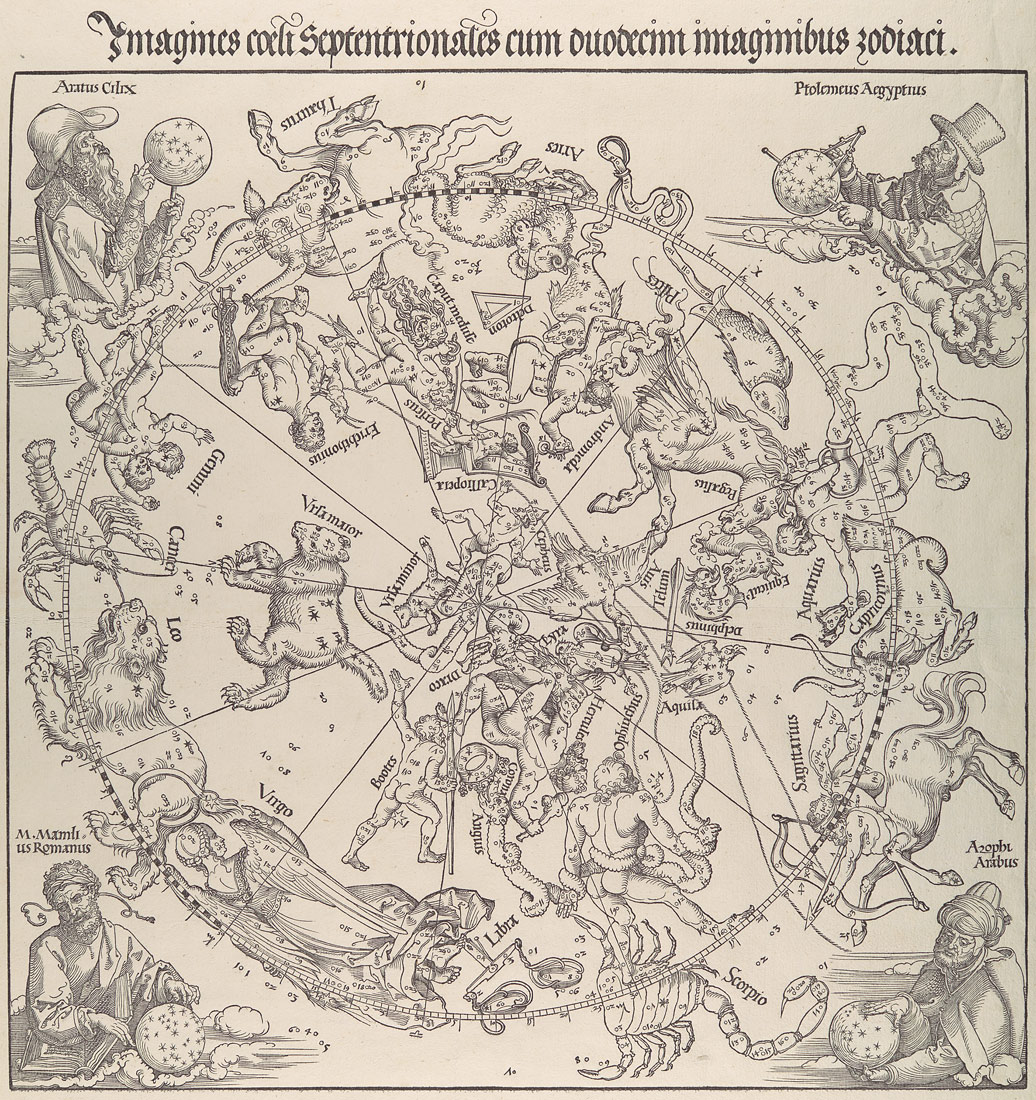 The Celestial Map- Northern Hemisphere | Albrecht Dürer | 51.537.1 | Work of Art | Heilbrunn Timeline of Art History | The Metropolitan Museum of Art