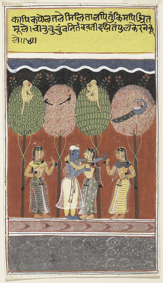 krishna keyword heilbrunn timeline of art history the  krishna revels the gopis page from a dispersed gita govinda song of the