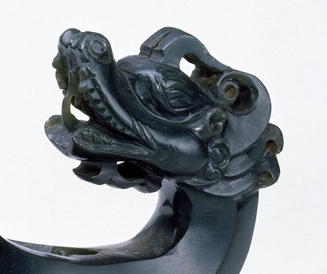 Sword Guard in the Form of Confronted Dragons
