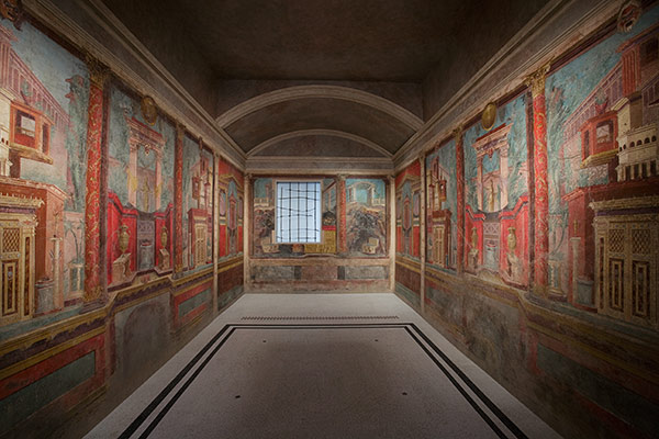 Fresco wall painting in a cubiculum (bedroom) from the Villa of P. Fannius Synistor at Boscoreale