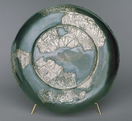 Bowl decorated with marsh scenes