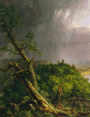 View from Mount Holyoke, Northampton, Massachusetts, after a Thunderstorm—The Oxbow