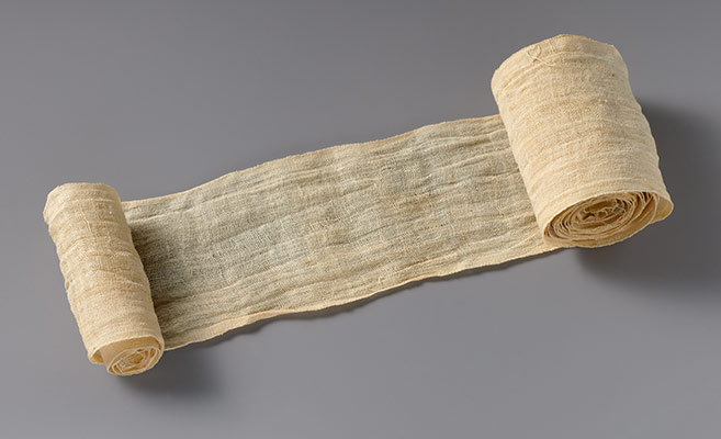 Mummy bandage from Tutankhamuns embalming cache