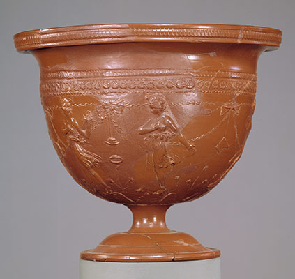 Arretine cup signed by Tigranes