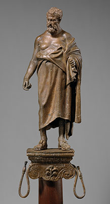 Bronze statuette of a philosopher on