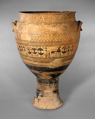 Terracotta Krater Attributed To The Hirschfeld Workshop 14130