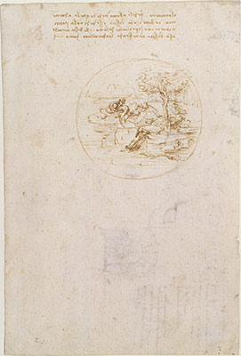 leonardo da vinci essay heilbrunn timeline of art  allegory on the fidelity of the lizard recto design for a stage setting
