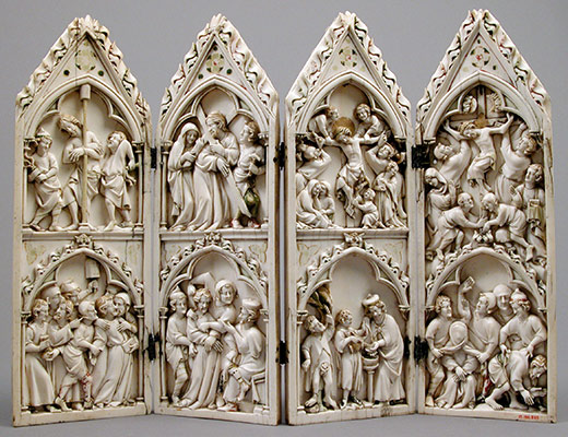 Polyptych with Scenes from Christs Passion