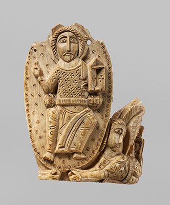Tusk Fragment with Christ Enthroned