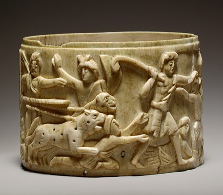 Ivory Pyx with the Triumph of Dionysos in India
