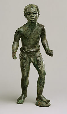 Bronze statuette of an African (known as Ethiopian) youth