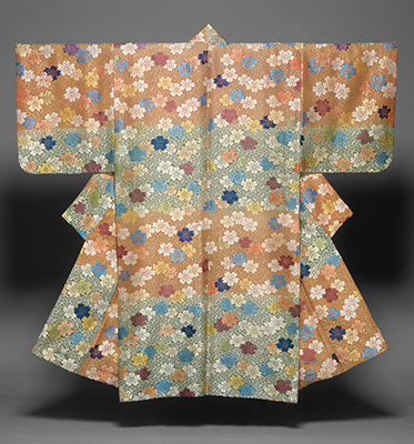 Noh Costume (Karaori) with Cherry Blossoms and Fretwork