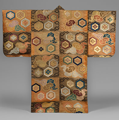 Noh costume (atsuita) with clouds and hexagons