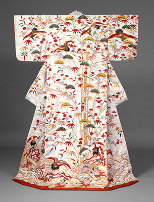Outer robe (uchikake) with theme of Mount Hôrai