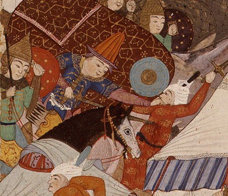 The Besotted Iranian Camp Attacked by Night, Folio 241r from the Shahnama (Book of Kings) of Shah Tahmasp