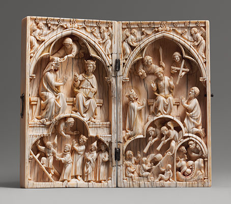Diptych With The Coronation Of Virgin And Last Judgment