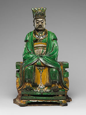 Daoist Deity, probably Heavenly Marshal Zhao (Zhao Gong Ming)